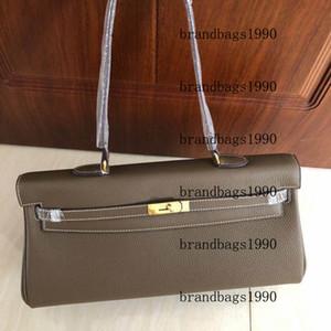 Bolso de moda 42 cm Totes de las mujeres bolsas de hombro con cerradura estampada Lady Lady Genuine Leather Handbag Bufanda Horse Charm Envío gratis