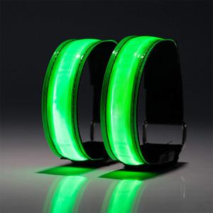 LED Luminous Arm Band Reflective Strip Wrist Band Outdoor Sports Night Running Equipment Activities Wish Amazon Hot