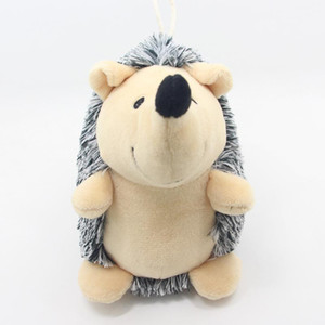 Squeak Plush Dog Toys Hedgehog Shaped Intreactive Training Stuffed Dog Chew Toys For Puppies and Small Pets OWF4694