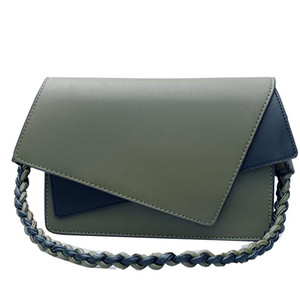 Designer-New Panelled Women Handbags European style Crossbody Bags brands Asymmetric Cover Knitting straps Shoulder Bag Female