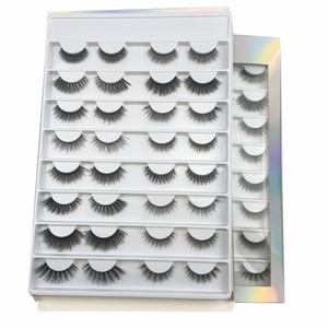 wholesale 16pair silk eyelashes natural 3d slik lashes books  faux mink eyelashes  false eyelashes with eyelashe packaging box