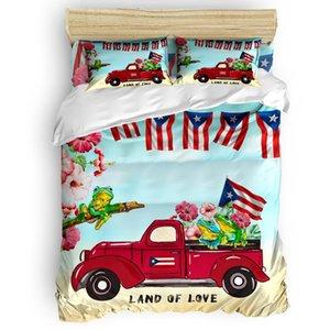 Подвесные комплекты грузовики Puerto Rico флаг цветок лягушка одеяла крышка набор теплой и удобной кроватью спальни утешитель 2/3/4 шт.
