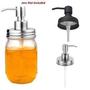 Tapa dispensadora de jabón Loción de acero inoxidable Dispensador de la bomba de reemplazo para el baño de masón Baño Accesorios de cocina con tubo extra DHD4616