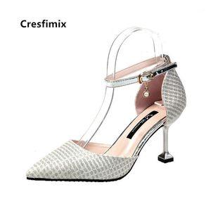 Cresfimix Femmes Femmes Sweet Sexy Party Haute talon Chaussures Dames Casual Golden Heel Heel Heel Stiletto Cool Black Shoes A57961