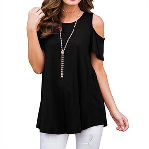 new Women Blouses Summer Casual Sexy Off Shoulder Blouse Batwing Short Sleeve Solid Shirt O neck Loose Womens Tops and Blouses