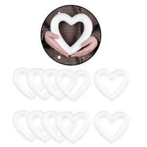Craft Foam Heart- 2 5 10Pack Love Shaped Foam for DIY Home Art Craft Project, Table Centerpiece, White Polystyrene Styrofoam Foam Ball for
