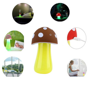 New touch Mushroom Lamp Humidifier Portable USB Air Humidifier Purifier Water Bottle with Led Light for Office Home Car Traveling spray