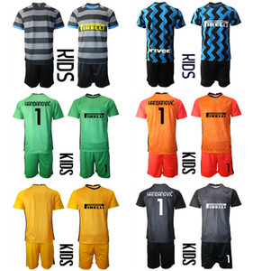 2021 Goalkeeper Milan Camisa de Futbol Custom Kids Kit Uniform Sets 1 HANDANOUIC Football Jerseys 10 LAUTARO 24 ERIKEN Boys Uniform Sets