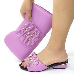beautiful Italian Matching Shoes And Bag Set African Style Ladies Shoes And Bag To Match For Wedding Dress!OT1-3