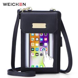 Weichen Transparente Teléfono celular Teléfono Celular Bolsos Para Mujer Señoras Pequeñas Cross Chody Mini Messenger Bag Q1221