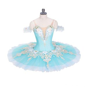 Beautiful light blue emboridary professional classical ballet tutu