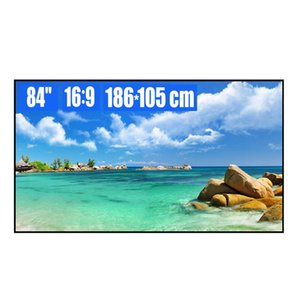 84 inch 16:9 White Soft Ultra-Narrow Fixed Frame Projection Screen 4K 8K HD 3D Movie Projector Screen for Home Theater