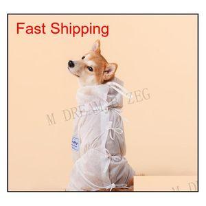 Ropa protectora para perros de mascota ventiladora para caminar al aire libre Tienda de bacterias Perro Perro Ropa Polvo Aparato Traje Qylyla HairClippershop