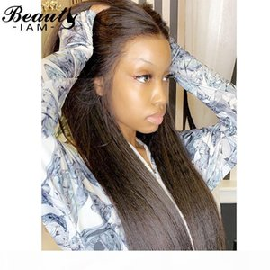 Yaki Straight Lace Front Human Human Wigs para mulheres Preplucked Curly 13x6 Rendas Peruca dianteira