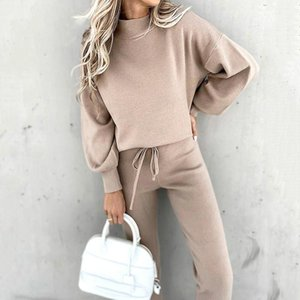 Winter Tracksuit Women's Two Piece Sets Pullover Sweatshirt And Sweatpants Set Female Sportswear Sweat Suits Clothes Women 2020