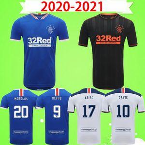 20 21 Rangers Glasgow Soccer Jersey 2020 2021 Fußball-Hemd Home Away Dritter Defoe Morelos Kent Stewart Aribo Arfield Adult Mens Kids Kit