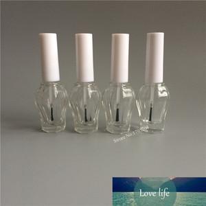 20pcs lot 15ml Empty Special Shape Nail Polish Bottle Portable Brush Nail Art Container Glass Nail Oil Bottles