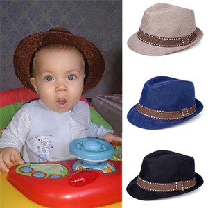 Hot Sale Baby Hat Children Jazz Straw Cap Baby Boys Girls Cap Hat For Kids Sun Panama Photography Props Hats