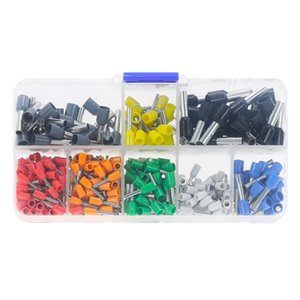 400pcs Box-packed Tubular Various Styles Electrical Wire Cable Connector Terminal Tube Insulating Terminal Set