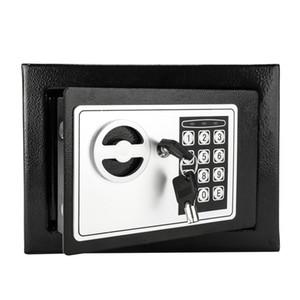 New Mini Digital Steel Electronic Cash Box Safe Keyboard Lock Bill Jewelry Key Box Home Safe US Stock