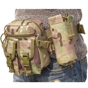 Tactical Water Bag Outdoor Sports Shoulder Package Molle Camping Hiking Waterproof Oxford Waist Pack Kettle Pocket Case