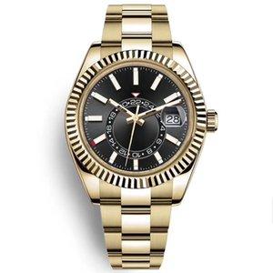 Hommes Sky Watch de haute qualité Automatique Mechanical Fashion Business 2813 Mouvement Montres Acier inoxydable 40mm Lumineux Bracelet étanche