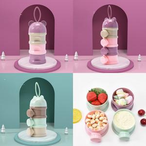 Caixa portátil Cor de alta capacidade Color Multi Storey Alimentos Caixa de Armazenamento Bebê Alimentando Contentor de Leite Pó Independente 4 7BB K2