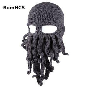 BOMHCS Оптовая Смешные щупальца Осьминог Cthulhu Knit Beanie Hat Cap Wind Mask Y201024