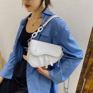 Luxury Women's Chain Saddle Bag 2020 New Ladies Shoulder Bags Top Quality Pu Leather Handbags Messenger Bags Female Day Clutches