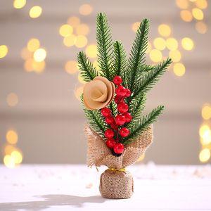 Creative Mini Christmas Tree Decoration Small Tree Decor Tabletop Atmosphere Simulation Christmas Tree Gift 6 Styles Kimter-X989FZ