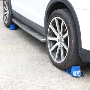 Wheel Chocks, Car and RV Block with Rope, Heavy Duty Car Wheel Stoppers Chock, Extremely Durable for Cars, Boats, Trucks