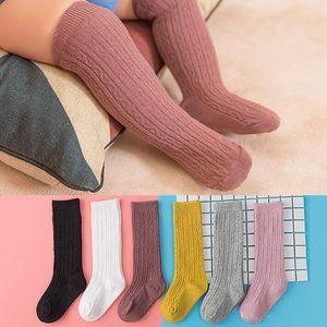 Baby Boys Girls Socks Newborn Toddler Baby Knee High Sock Cotton Solid Color Girl Boy Socks Infant Kids Long Sock ZYY260