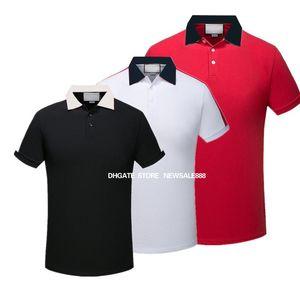 2020 Nouvelle marque de marque Polo Chemise Hommes T-shirts Luxury Mens Hommes Polos Floral Broderie High Street célèbre Print Hommes Polos M-3XL