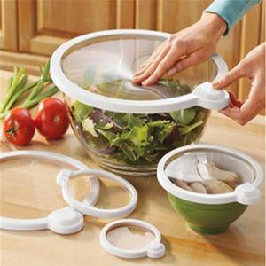 5 ADET Gıda Sınıfı Tutma Gıda Taze Wrap Kullanımlık Yüksek Streç Silikon Gıda Sarar Mühür Vakum Kapak Streç Kapak Mutfak Aletleri T200506