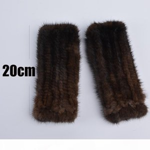 Winter mink fur gloves for women high Real Fur Gloves New Fashion Genuine Glove Knitted Mink Fur Fingerless D18110705
