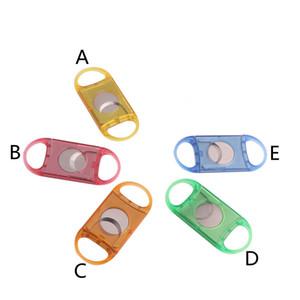 5 Colors plastic metal cigar cutter portable round head cigar cutter cigar smoking tool new arrival