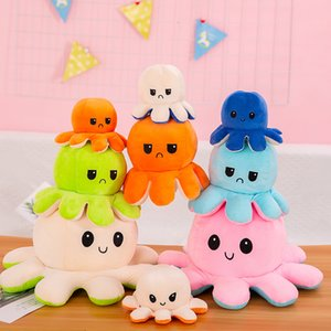 New Reversible Flip Octopus Plush Stuffed Toy Soft Animal Home Accessories Cute Animal Doll Children Gifts Baby Companion Plush Toy HH9-3655