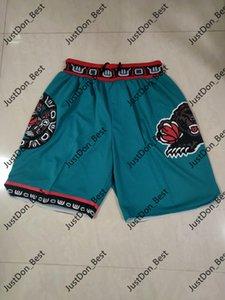MasculinoMemphis.Grizzlies.Basquete apenas don bolso vintage respirável calças costuradas mitchell ness hip-hopShorts clássicos