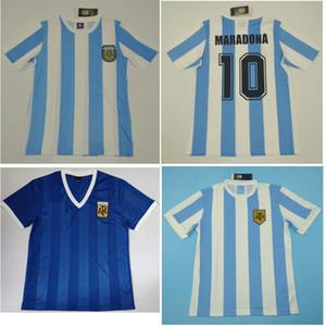 Top 1978 1986 Argentina Jerseys Retro Vintage Classic Diego Maradona Soccer Jersey Away Blue Football Camisa Caniggia Maillot De Pie