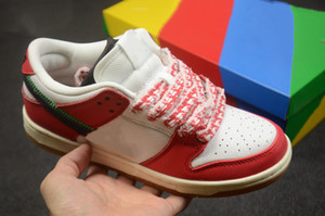 حار بيع 2021 dunk الاحذية المنخفض حبيبي سكيت أحذية مزدوجة هوك الأبيض الأحمر النساء الرجال الأزياء المدربين luxurys مصمم أحذية رياضية