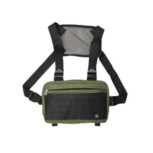 Designer-Hot Sale Fashion Chest Rig Bag Streetwear Waist Bag Black Hip Hop Fanny Pack Men Adjustable Tactical Chest Bags Kanye Waist Packs