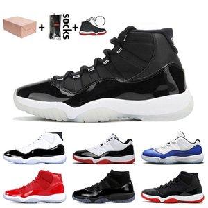 Jumpman 11 Stock x retro 11 11s Kutu 25. Yıl Metalik Gümüş 11'ler Jumpman 11 Basketbol Ayakkabı Kadınlar Erkekler Concord Mavi Sneakers Bred