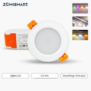 الالكترونيات الذكية التحكم عن بعد Zigbee 3.0 Smart RGBW 2.5 بوصة Downlight LED لمبة ضوء العمل مع Amazon Echo Plus مباشرة