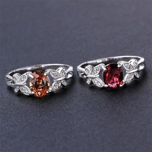 Argento placcato Cubic zirconia anello rosso / champagne farfalla gemstone anelli gioielli animali per le donne ladies vendita calda 311 J2