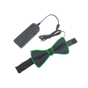 EL Boneless Prom Wedding Party Festival Flash Bow Tie Unisex Led Luminous Bow Tie