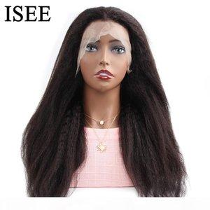 Yaki Straight Lace Front Wigs para mulheres negras 13x4 renda dianteira perucas 150% densidade yaki lace dianteira perucas de cabelo humano