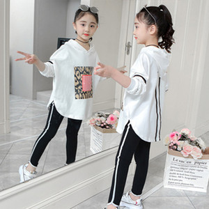 Boutique kids clothing Autumn spring girls set long sleeve tops +pants 2pieces tracksuit Children clothes outfit tracksuit Y1117