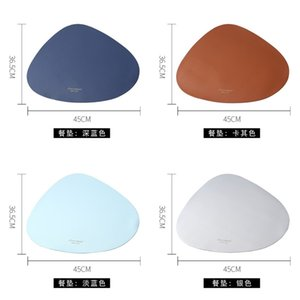 Waterproof Oilproof Cushion Simplicity Leather PU Triangle Table Mat Originality Northern Europe Insulation Pad Antiskid Hot Sale 7 5hj M2