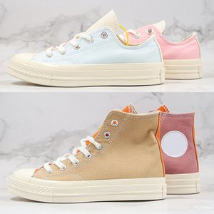 Classic Tri -Panel Renew Chuck 70 Girls Casual Canvas Shoes 1970s Macaron Pink Blue Men Women Skateboard Sport Trainers Sneakers Size