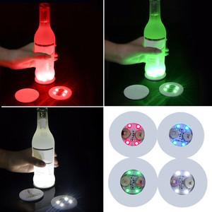 LED Coaster LED Bottle Light Stickers Glow Christmas Xmas Bar Club Party Vase Decoration LED Glorifier Mini Light Drink Cup Mat